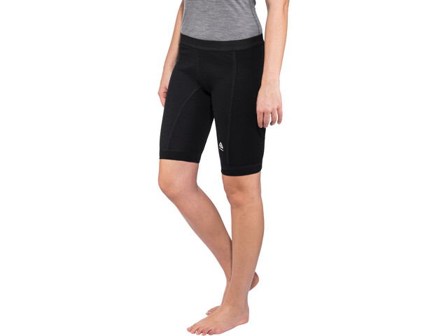 Aclima WarmWool Long Shorts with Windstop Damen jet black